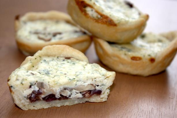 Balsamic Onion, Mushroom & Blue Cheese Tarts