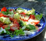 Mozzarella Salad With Green Herb Dressing
