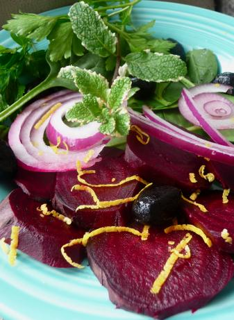 Beet Salad With Lemon, Cilantro and Mint