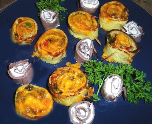 Mushroom Omelette Roll