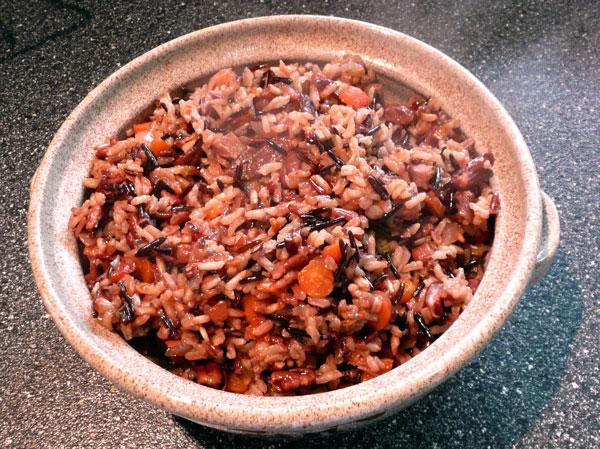 Wild Rice and Shiitake Mushroom Pilaf