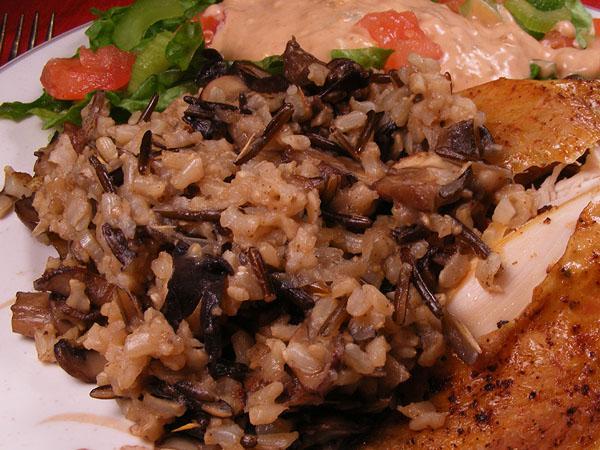 Wild Rice and Mushroom Pilaf