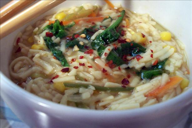 Spicy Vegetable Egg Noodles