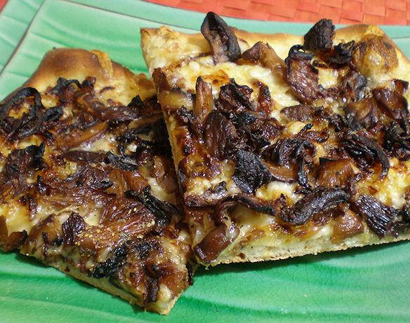 Wild Mushroom Pizza - Caramelized Onions, Fontina, Rosemary