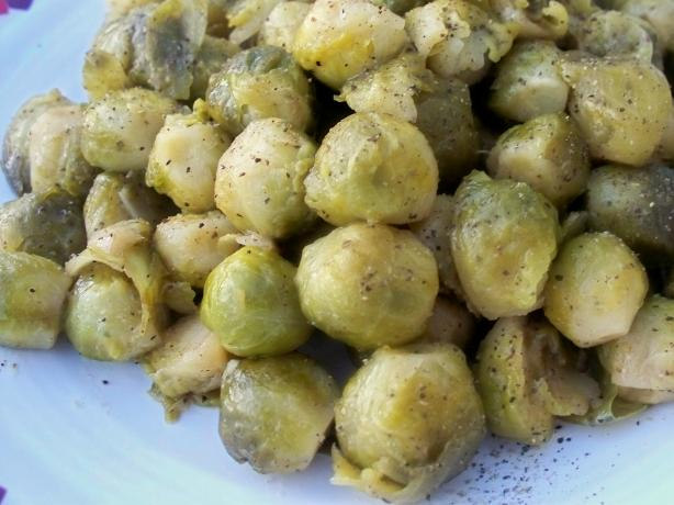 Glazed Brussels Sprouts With Lemon and Pepper
