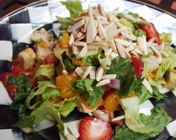 Strawberry, Orange & Almond Chicken Salad