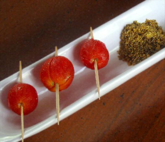 Cherry Tomatoes Marinated in Vodka (In Oversized Martini Glass)