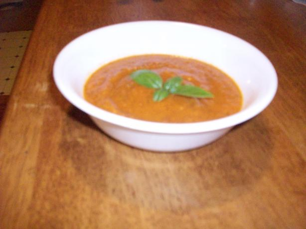 """healthy"" Cream of Fire-Roasted Tomato Soup"
