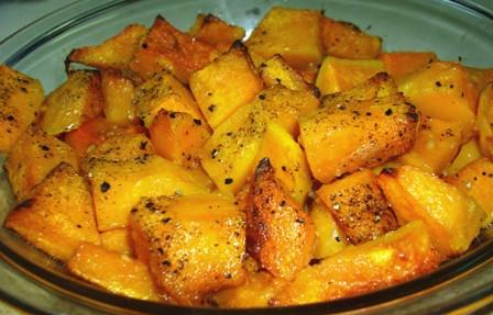 Butternut Squash With Garlic and Olive Oil