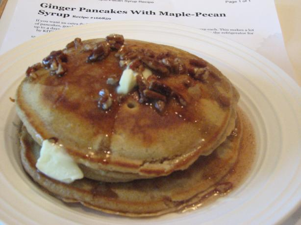 Ginger Pancakes With Maple-Pecan Syrup