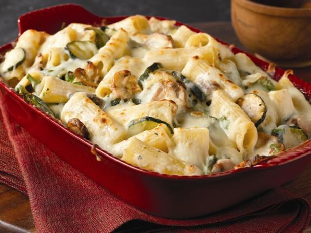 Creamy Zucchini & Spinach Rigatoni