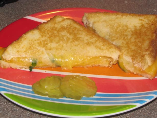 Spring Onion Grilled Cheese Sandwich