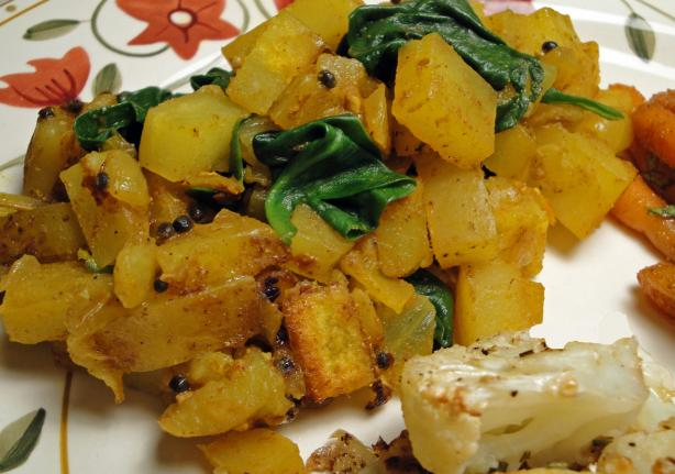 Indian Spiced Spinach With Potatoes