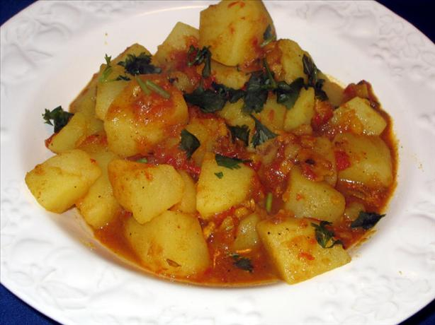 Indian Potatoes Cooked With Ginger: Labdharay Aloo