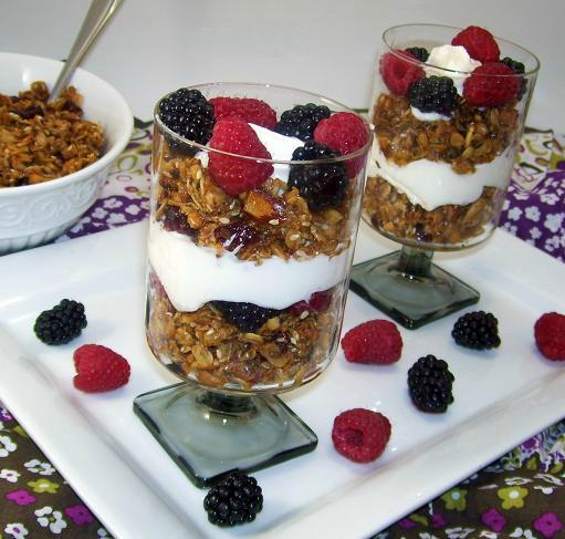 Granola Trifle With Greek Yogurt and Berries