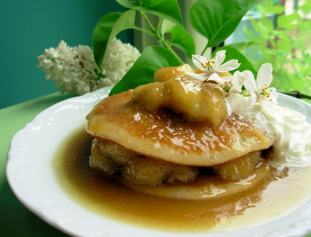 Banoffee Bananas With Buttermilk Pancakes, Ginger and Cream