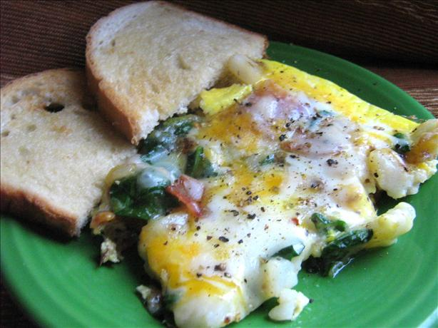 Potato, Bacon And Spinach Frittata
