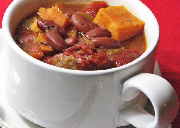 Kidney Bean and Sweet Potato Stew