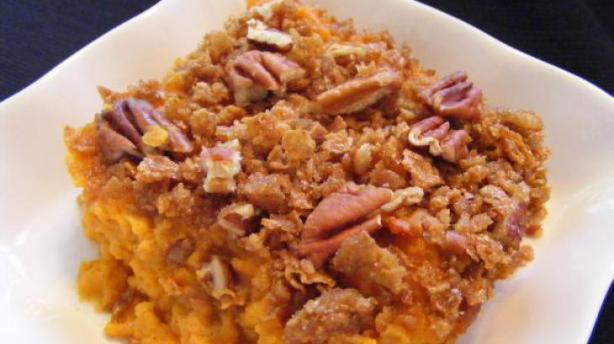 Best Ever Sweet Potato Casserole With Pecan Topping