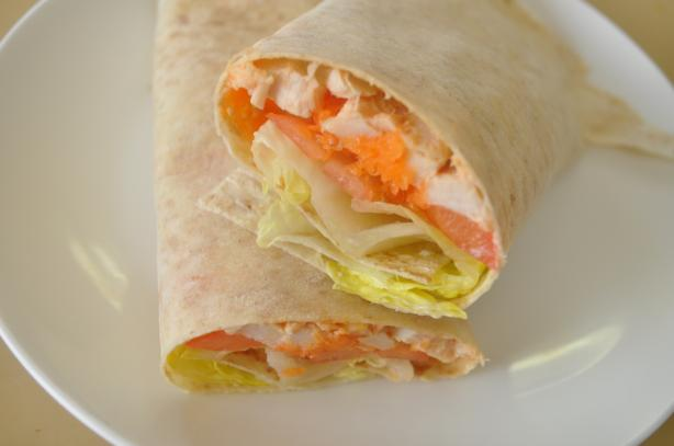 Dijon Chicken and Salad Wrap (21 Day Wonder Diet: Day 1)