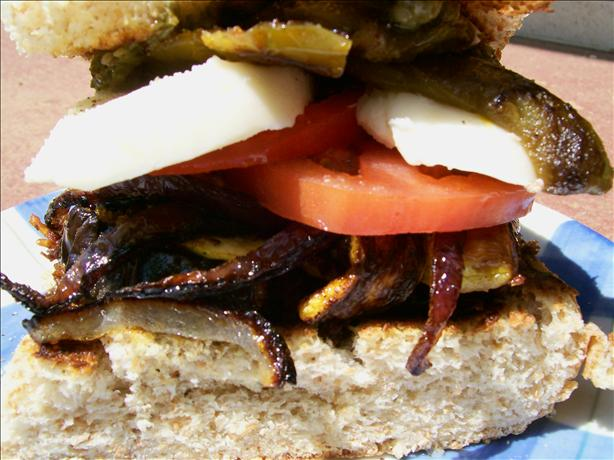 Grilled Vegetable Panini With Basil Pesto