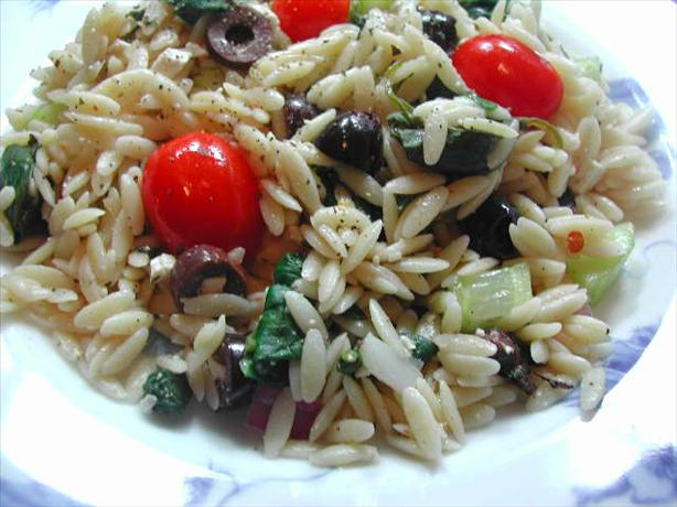 Wild Oats Greek Orzo and Spinach Salad