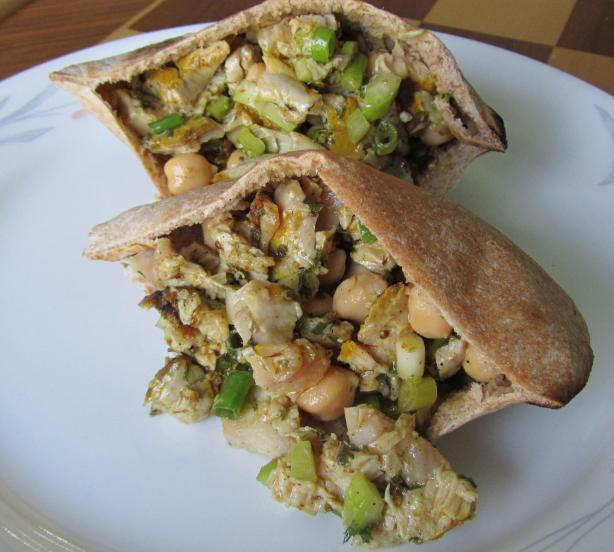Greek Chickpea & Tuna Pitas