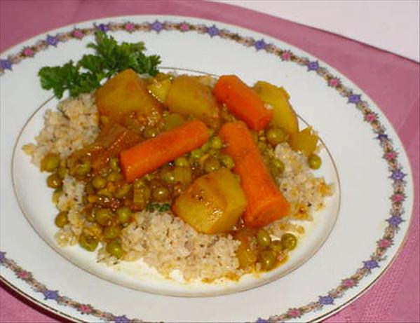 Pea Curry With Carrots and Potatoes