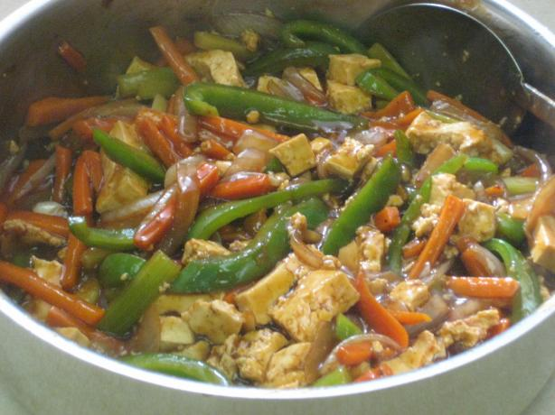Indonesian Sweet and Sour Tofu With Vegetables