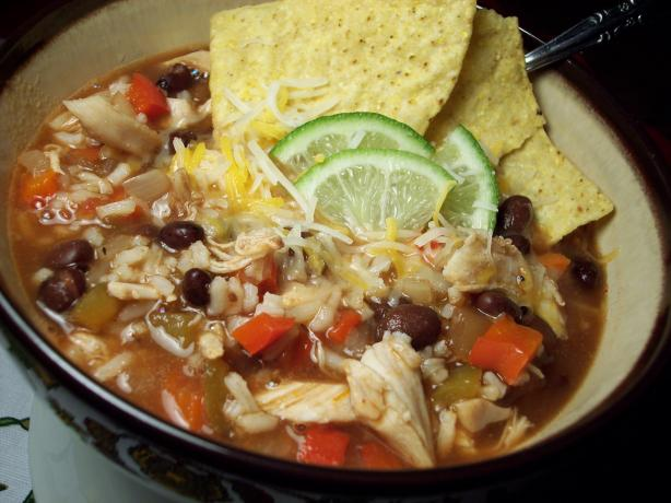 Easy Mexican Chicken/black Bean Soup