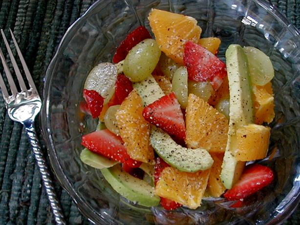 Leftover fruits breakfeast salad
