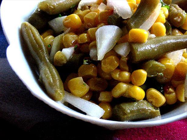 Fresh Corn and Green Bean Salad