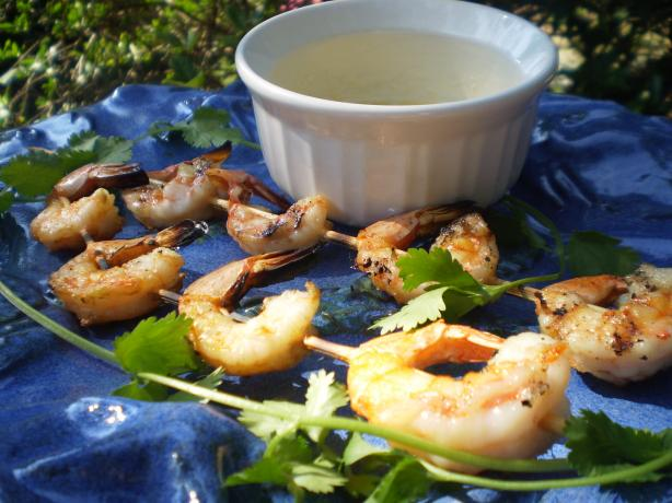 Skewered Tiger Prawns With Honey-Lime Butter