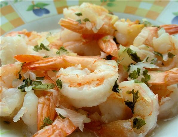 Garlic Prawns in the Microwave