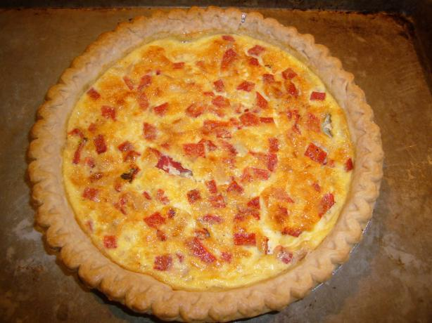 Feta and Roasted Bell Pepper Quiche