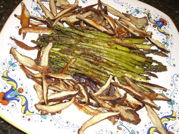 Roasted Asparagus & Shiitake Mushrooms
