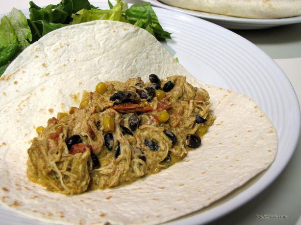Fiesta Chicken Burritos Crockpot