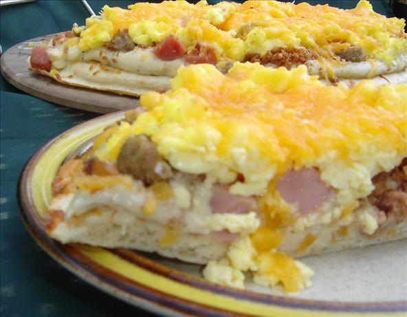 3 Meat Breakfast Pizza