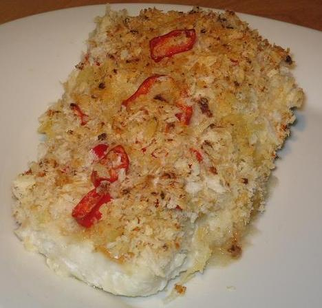 Chili and Lemon Crumbed White Fish With Coconut Rice