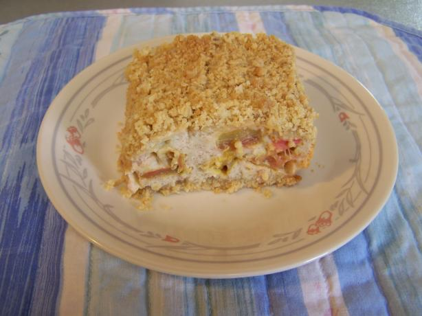 Cream Cheese Rhubarb Bars