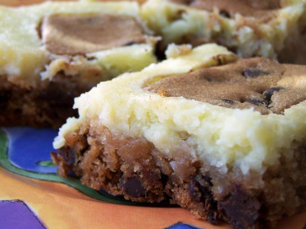 Chocolate Chip Cookie Cream Cheese Bars