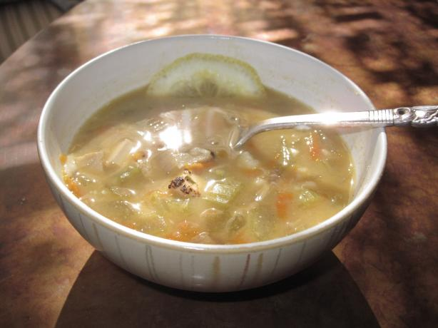 Vegan Greek Lemon Un-Chicken Soup