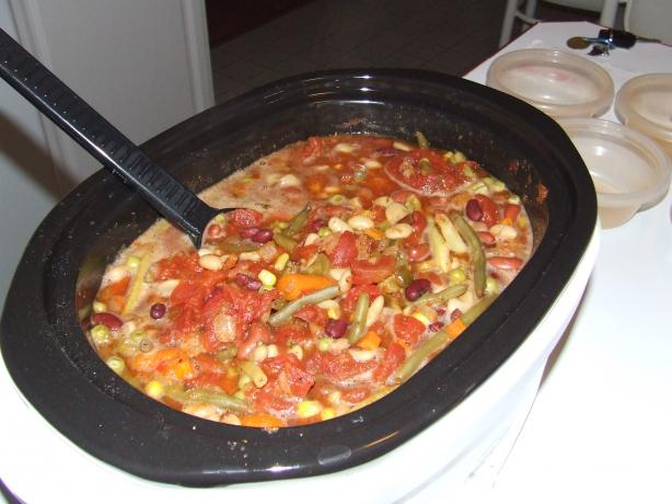 Cheryl's Spicy Tomato, Bean & Veggie Soup - Crock Pot