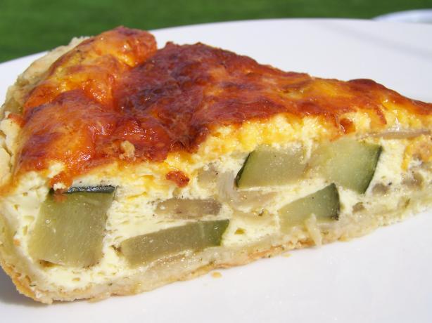 Zucchini, Jalapeno, Cheddar Crustless Quiche