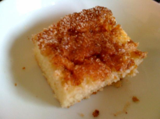 Apple Cake With Cinnamon Sugar Topping