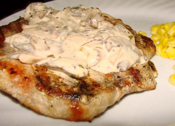 Pork Chops in Mustard Mushroom Sauce
