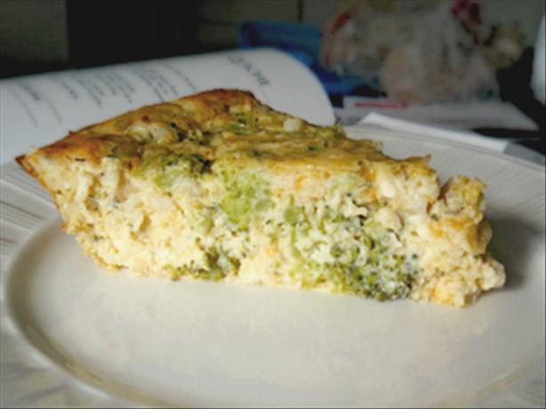Crustless Feta and Cheddar Quiche