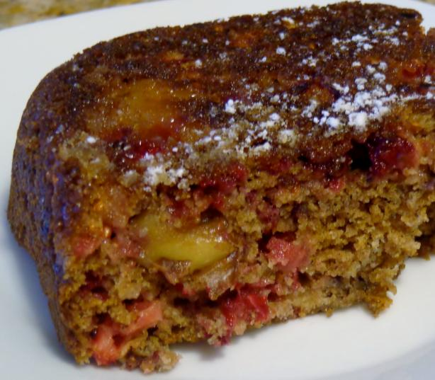Cran-Apple Walnut Cake (Lighter Version)