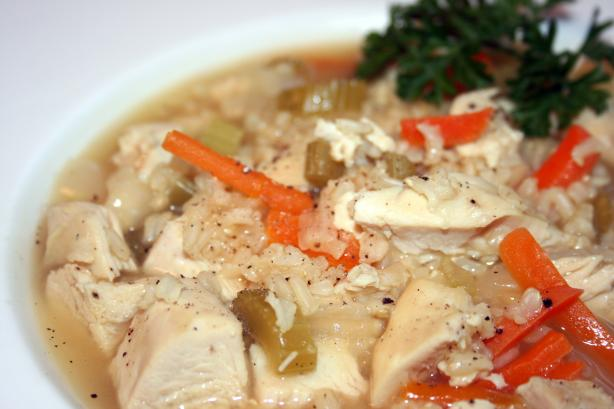 Chicken Soup With Rice or Noodles