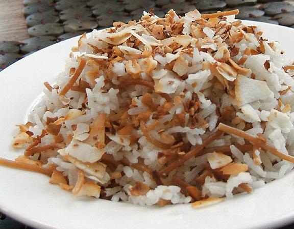 Lemongrass Infused Coconut Jasmine Rice Pilaf